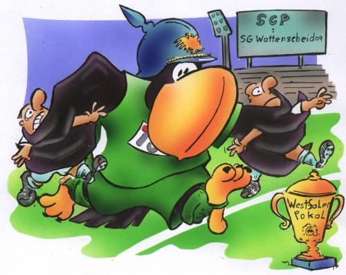 Cartoon: SC Preussen Münster (medium) by HSB-Cartoon tagged fussball,soccer,westfalenpokal,scp,,fussball,westfalenpokal,scp,adler,deutschland,pokal,bundesliga,preussen,münster,meisterschaft,wettkampf,regionalliga