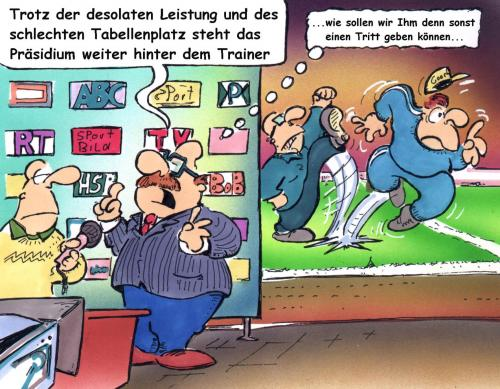 Trainer Feuern By Hsb Cartoon Sports Cartoon Toonpool