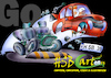 Cartoon: Airbrush Illustration car (small) by HSB-Cartoon tagged airbrush,illustration,cartoon,car,traffic,cartoonmotiv,acrylic,acryl,art,hsbcartoon,driver