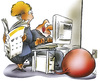 Cartoon: computer feed (small) by HSB-Cartoon tagged pc,computer,information,newspaper,paper,user,airbrush,airbrushcartoon,art,cartoon,caricature,karikatur,airbrushzeichnung