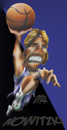 Cartoon: Dirk Nowitzki (small) by HSB-Cartoon tagged basketball,sport,dirk,nowitzki,nbl,dallas,mavericks,airbrush,caricature