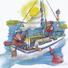 Cartoon: discoverer (small) by HSB-Cartoon tagged sailing,sailboat,boat,columbus,sailor,sea,ocean,water,discovery,discover,cartoon,caricature,airbrush