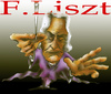 Cartoon: F. Liszt (small) by HSB-Cartoon tagged music,componist,franz,liszt,celebrity,komponist,airbrushart,airbrushcartoon,airbrush,illustration