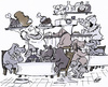 Cartoon: Hundecafe (small) by HSB-Cartoon tagged hund dog cafe restaurant gastronomie lokal bistro kellner haustier cartoon karikatur