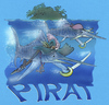 Cartoon: marlin pirat (small) by HSB-Cartoon tagged sea,ocean,fish,marlin,pirat