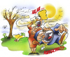Cartoon: Pollenflug (small) by HSB-Cartoon tagged allergiker,pollen,pollenzeit,blüte,natur,gesundheit,healthy,baum,tree,airbrush