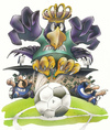 Cartoon: Preußen Adler (small) by HSB-Cartoon tagged scp preußen münster fußball soccer eagle adler ball player spieler goal tor king könig cartoon caricature maskottchen hsb airbrush