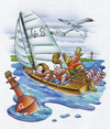 Cartoon: sailor (small) by HSB-Cartoon tagged sail,sailing,sailor,family,boje,sailingboat,boat,ship,water,ocean,sea,boating,segeln,segelboot,segler,segelschiff,meer,ozean,hafen,harbour,möwe,seagul,sailingcartoon