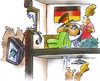 Cartoon: the day after (small) by HSB-Cartoon tagged soccer,football,goal,tv,television,european,championship,champion,tor,fussball,fussballmeisterschaft,europameisterschaft,europa,fan,deutschland,airbrush