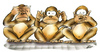 Cartoon: the three monkeys (small) by HSB-Cartoon tagged three,monkeys,animal,affe,affen,drei,tier,tiere,karikatur