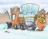 Cartoon: Winter 2010 (small) by HSB-Cartoon tagged winter