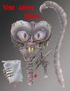 Cartoon: your adress please... (small) by HSB-Cartoon tagged horror monster munster death tod creatur kreatur airbrush cartoon