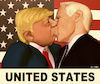 Cartoon: UNITED STATES (small) by Cartoonfix tagged usa,wahlen,2020,trump,vs,biden,kiss,of,erich,honecker,and,leonid,brezhnev