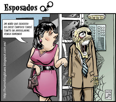 Cartoon: santa paciencia (medium) by Wadalupe tagged pareja,matrimonio,paciencia