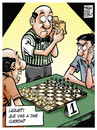 Cartoon: arbitro analogico (small) by Wadalupe tagged ajedrez,torneo,arbitro,gm,mi,deporte,juegociencia,elo,tablero,hastaelinfinitoumasalla,memuero