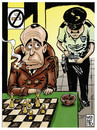 Cartoon: smoked in your eyes mr bogart (small) by Wadalupe tagged smoke,bogart,chess,tourney,law,tax,money,health,fine