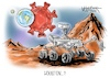 Cartoon: Houston...? (small) by Mirco Tomicek tagged nasa,rover,perseverance,mars,space,weltraum,all,universum,milchstraße,planet,planeten,erde,welt,weltkugel,sonnensystem,marsianer,weltraumprojekt,weltraumfahrt,astronaut,astronomie,houston,corona,covid19,virus,pandemie,lockdown,shutdown,viren,technik,weltraumbehörde,cartoon,karikatur,pressekarikatur,mirco,tomicek