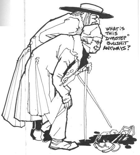 Cartoon  Grumpy Old Men  medium  by joellestoret tagged dubstep music    Grumpy Old Man Cartoon Face
