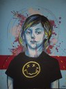 Cartoon: Kurt Cobain (small) by joellestoret tagged kurt,cobain,sharpie,acrylic,blue,face,child,music,nirvana