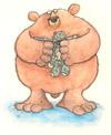 Cartoon: Bear and bunny (small) by dotmund tagged bear,rabbit