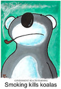 Cartoon: Smoking kills koalas (small) by dotmund tagged smoking,kills,koalas