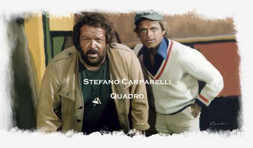 Cartoon: Bud Spencer   Terence Hill (medium) by carparelli tagged with,cintiq,12