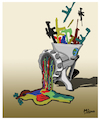 Cartoon: MasterPEACE (small) by miguelmorales tagged no,war,masterpeace,peace,conflict,paint,acrilic,oleo,weapon