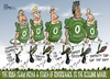 Cartoon: six Nations - week two (small) by campbell tagged ireland,rugby,team,riverdance,sport