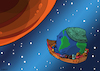 Cartoon: Migration to Mars (small) by Enrico Bertuccioli tagged earth,planet,mars,space,conquest,migration,immigration,migrants,people,society,life,human,humanity,environment,behavior,pollution,war,destruction,refugee,crisis,exploitation,government,political,policy,rights,regulation,walls,borders,population,safety,humanitarian,asylum,protection,climate,global