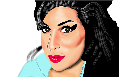 Cartoon: she was really beautiful (medium) by caminante tagged amy,winehouse