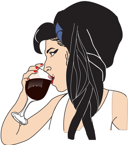 Cartoon: wine (medium) by caminante tagged amy,winehouse