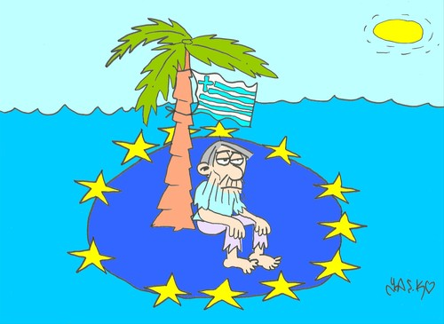 Cartoon: European (medium) by yasar kemal turan tagged economy,union,european,crisis,greece