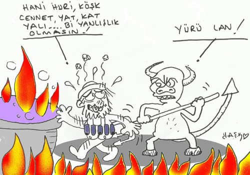Cartoon: hell (medium) by yasar kemal turan tagged hell