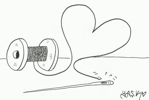 Cartoon: love object (medium) by yasar kemal turan tagged object,love
