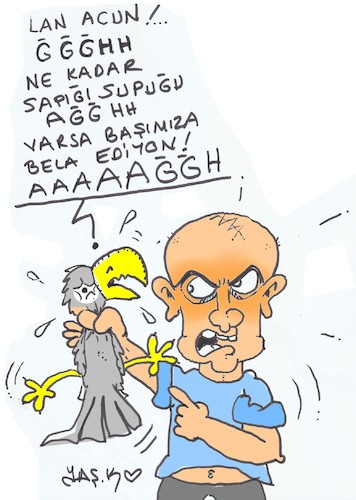 Cartoon: parrot torture (medium) by yasar kemal turan tagged parrot,torture