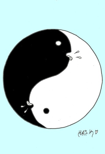 Cartoon: sex balance-Ying Yang (medium) by yasar kemal turan tagged human,69,love,fareast,balance,yang,ying
