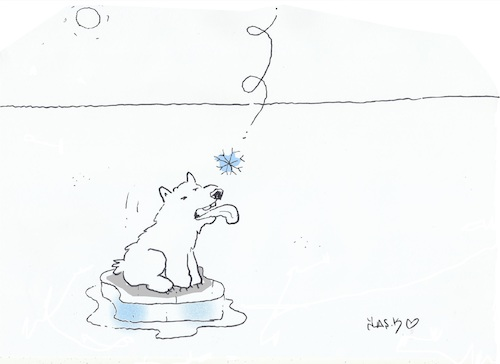 Cartoon: The last snow (medium) by yasar kemal turan tagged the,last,snow