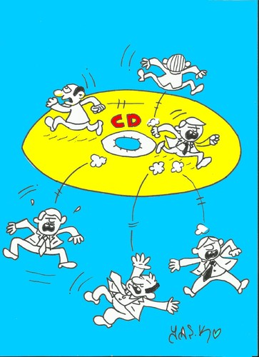Cartoon: cd earthquake (medium) by yasar kemal turan tagged politics,turkey,resignation,cd,scandal,policy,mhp