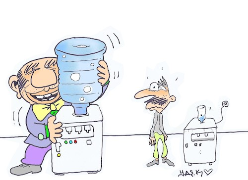 Cartoon: water wars (medium) by yasar kemal turan tagged water,wars