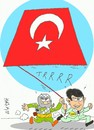 Cartoon: alliance (small) by yasar kemal turan tagged turkey,bdp,pkk,alliance,tbmm,terrorism,mekap