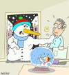 Cartoon: babaaa! (small) by yasar kemal turan tagged father,snowman,love,lantern,freedom