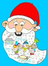 Cartoon: beard (small) by yasar kemal turan tagged beard love father christmas winter children snowman