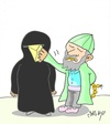 Cartoon: communication (small) by yasar kemal turan tagged communication,zealot,letter