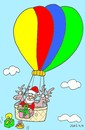 Cartoon: easy (small) by yasar kemal turan tagged easy love father christmas balloon gifts