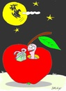 Cartoon: friend (small) by yasar kemal turan tagged friend love gift founded apple father christmas