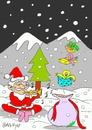 Cartoon: gifts (small) by yasar kemal turan tagged gifts father christmas love