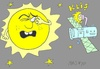 Cartoon: glare (small) by yasar kemal turan tagged glare,sun,camera,satellite