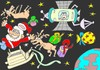 Cartoon: brink (small) by yasar kemal turan tagged gravity father christmas love deer space