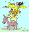 Cartoon: Guests (small) by yasar kemal turan tagged guests bremen fox crow cheese