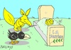 Cartoon: La Fontaine (small) by yasar kemal turan tagged la fontaine fox crow cheese literature love